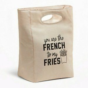 Insulated You're French to My Fries Tote Lunch Bag